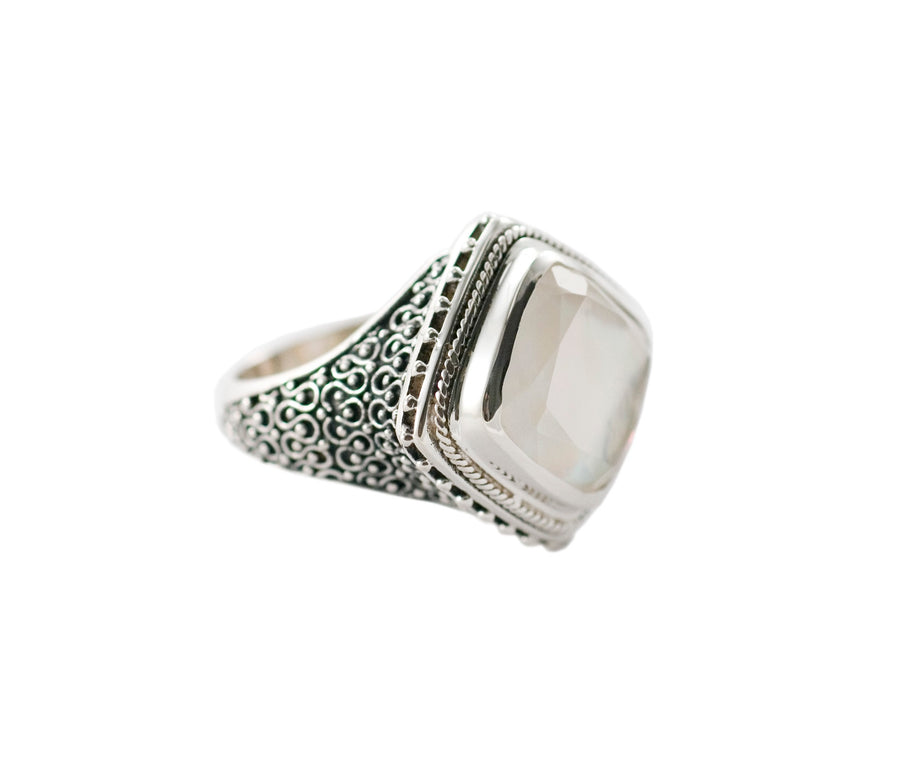 Sterling Silver Colosseum Ring (1254WMOP)