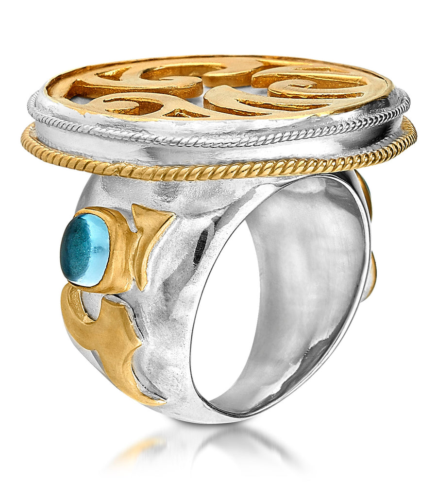 Sterling Silver w/18k Vermeil Currents Ring (1260SS/GP-BT)