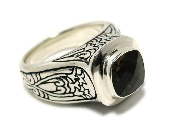 Sterling Silver Cushion Ring (168ST)