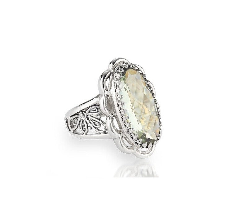 Sterling Silver Oval Ring (1906GRAM)