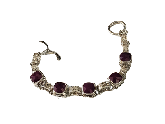 Sterling Silver Open Window Bracelet (5012RU)