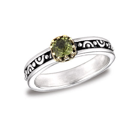 Sterling Silver w/18k Gold Stack Ring (265APD)