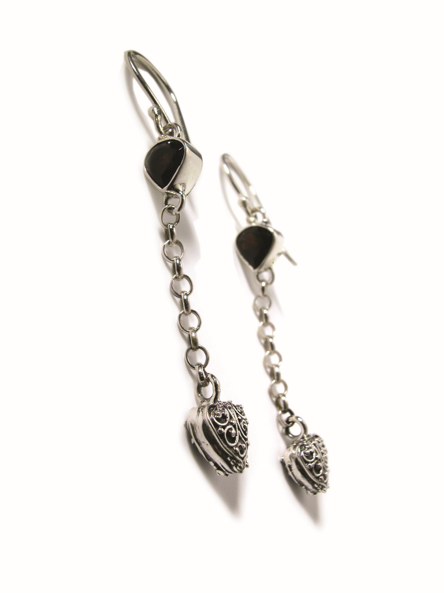 Sterling Silver Romantic Earrings (3219G)