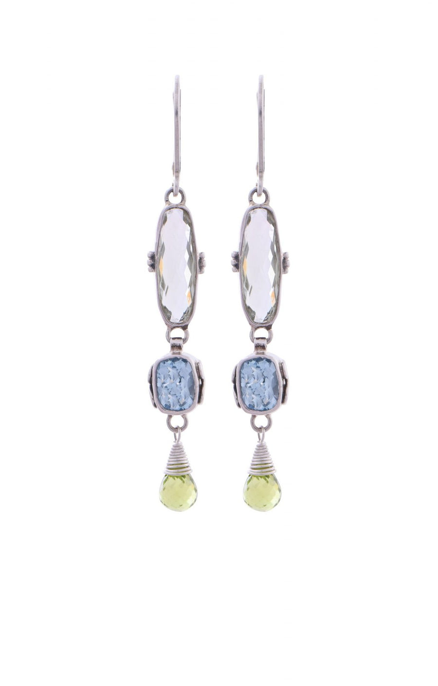 Sterling Silver 3-Tier Earrings (3286GRAM/BT/PD)