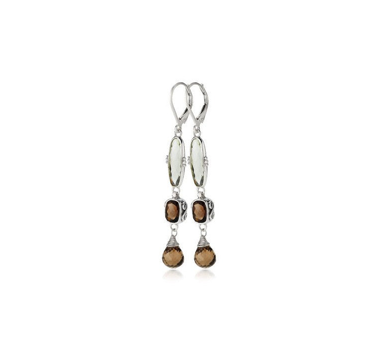 Sterling Silver 3-Tier Earrings (3286GRAM/ST/ST)