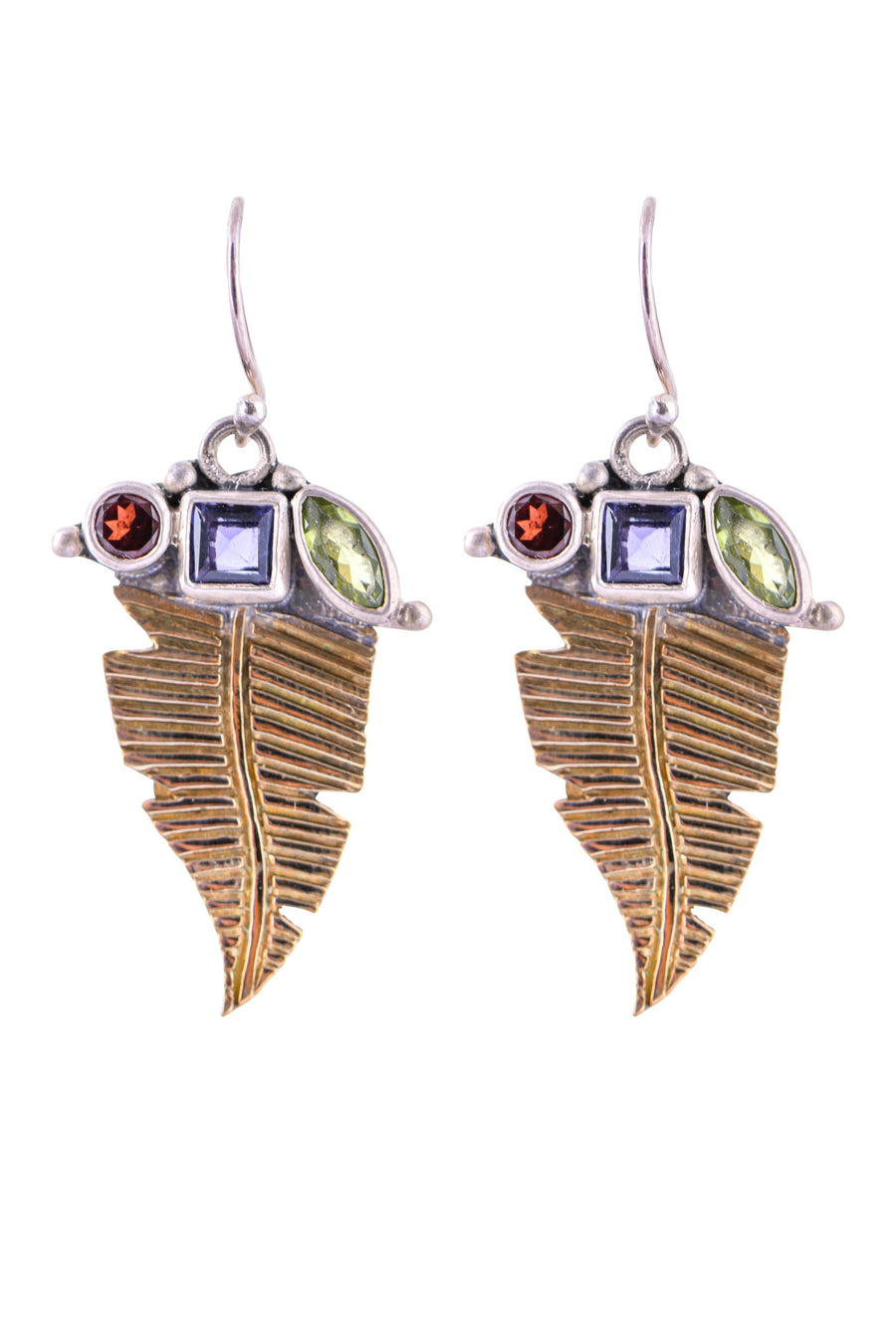 Sterling Silver w/Bronze Leaf Earrings (3602SS/BZ)