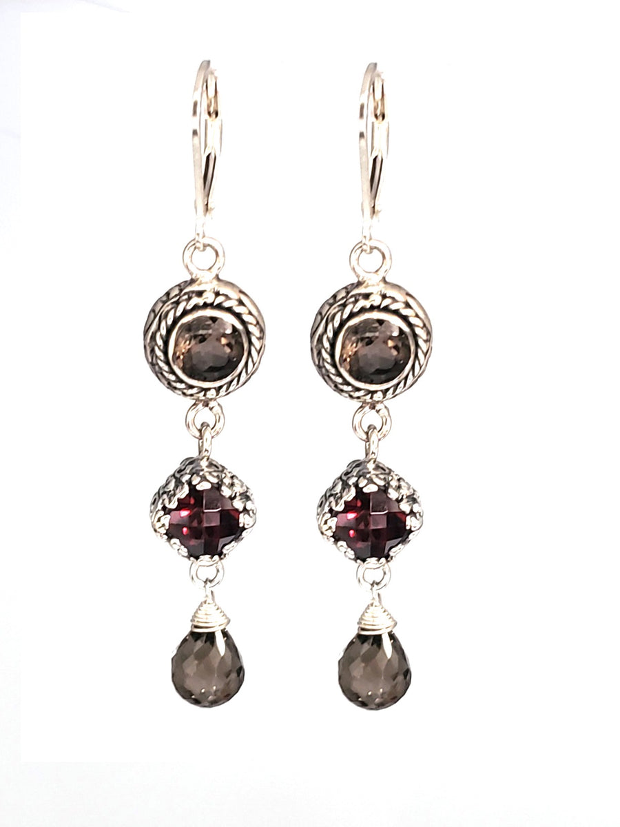 Sterling Silver Earrings (3708XST/G/ST)