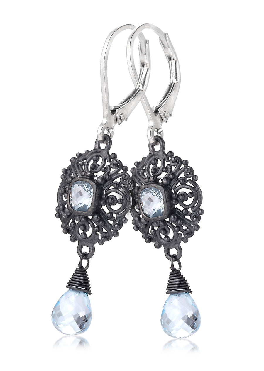 Sterling Silver Oxidized Earrings (3726GMTL-BT)