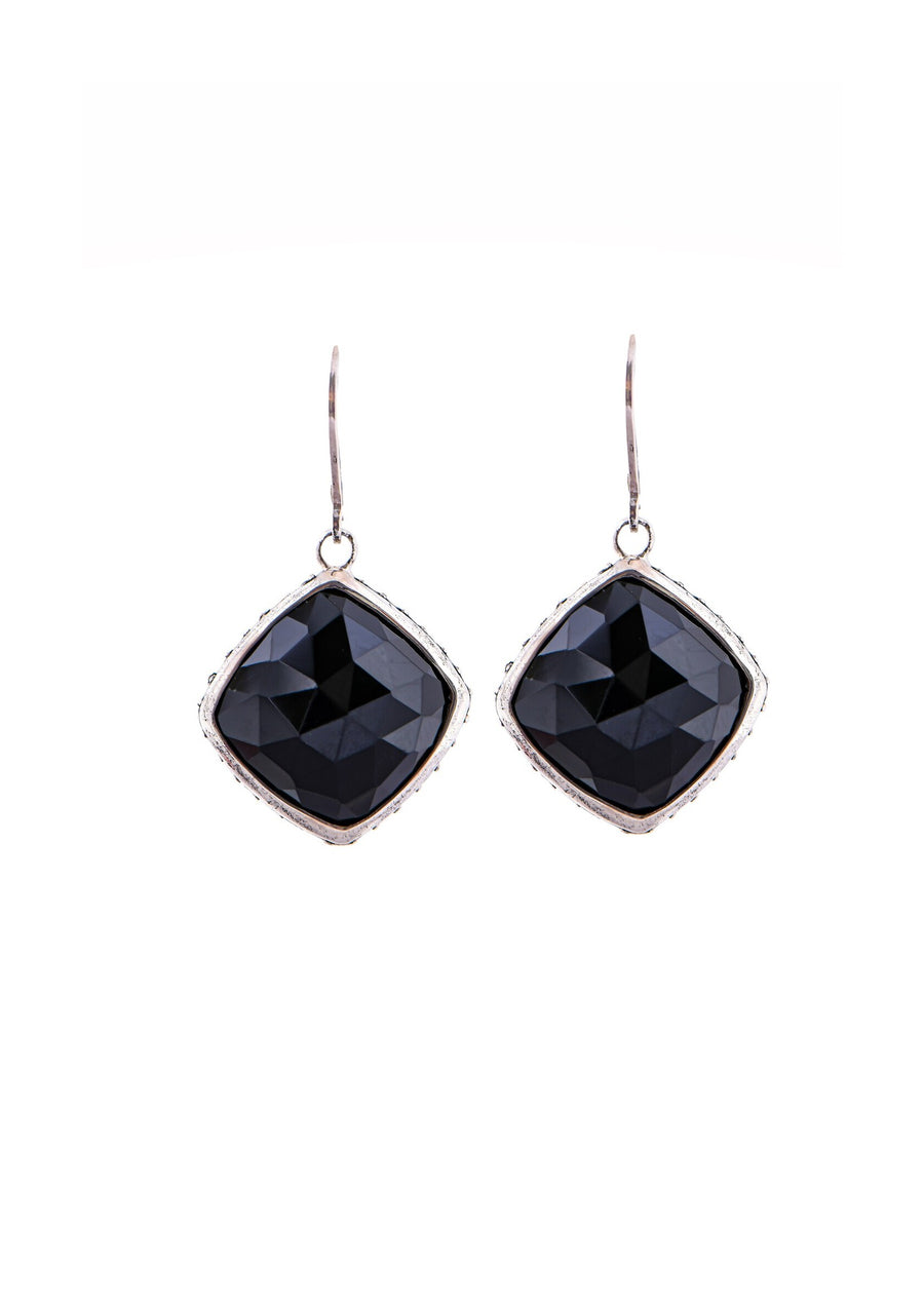 Sterling Silver Black Onyx Earrings (3826XBOX)