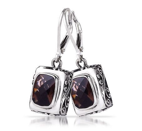 Copy of Sterling Silver Smoky Quartz Earrings (388XST)
