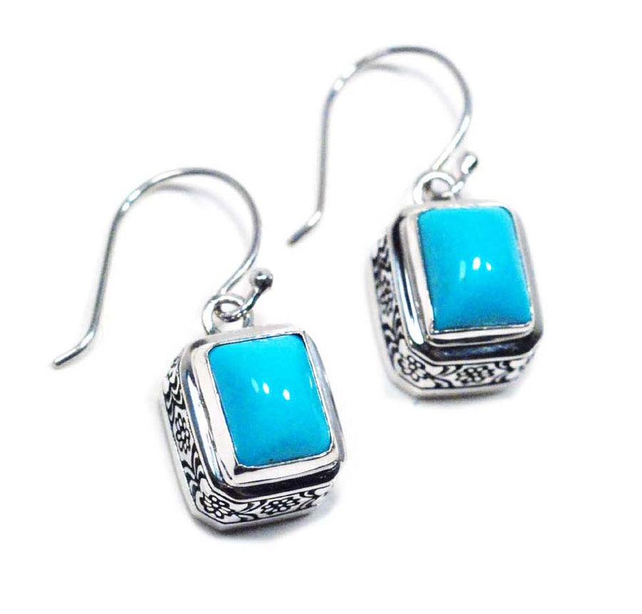 Sterling Silver Turquoise Earrings (399TQ)