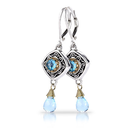 Sterling Silver & 18k Gold Earrings (4021BT/BT)