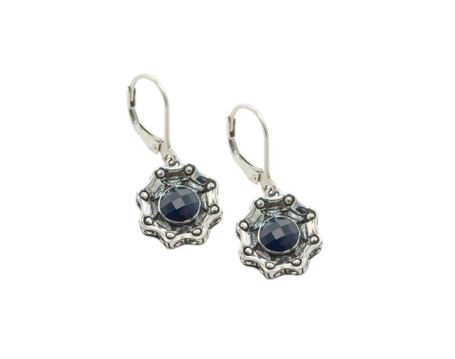 Sterling Silver Sapphire Earrings (3591SA)