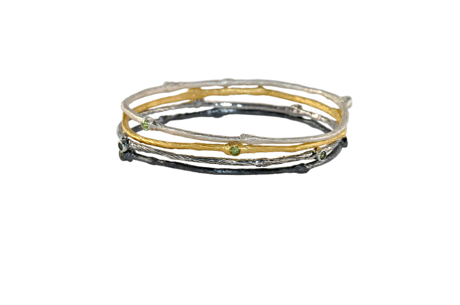 Mixed Metals 5-Stack Bangle Set (5750)