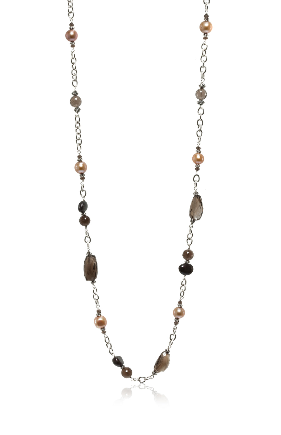 Sterling Silver Smoky Quartz Long Neck (7253XST-30)