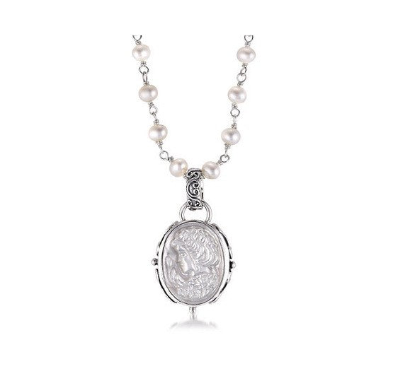 Sterling Silver Cameo Necklace (7258/7013WP)