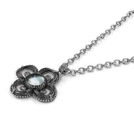 Oxidized Sterling Silver Necklace (7829SS/GMTL)