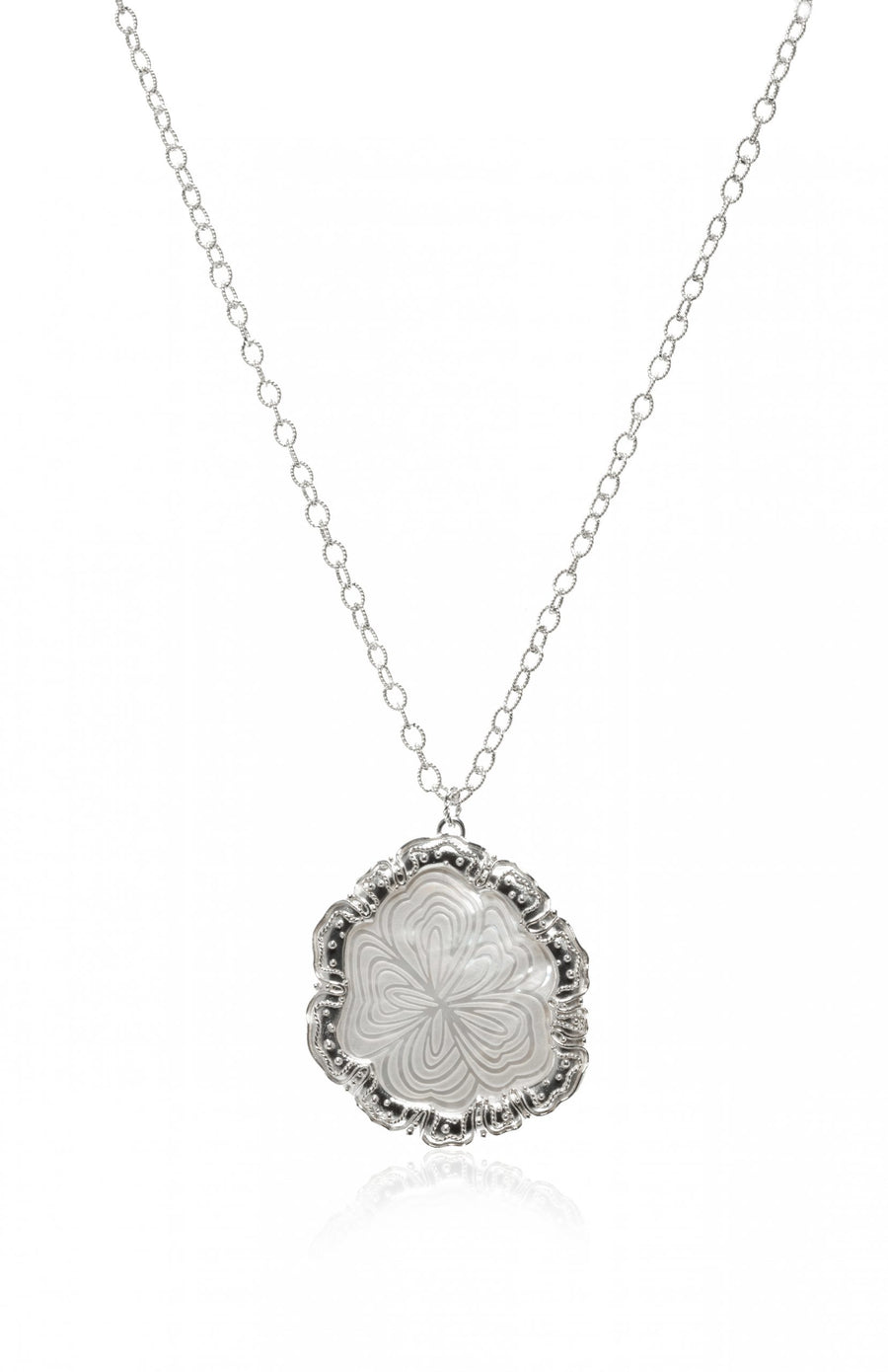 Sterling Silver Ripples Necklace (7881WMOP)