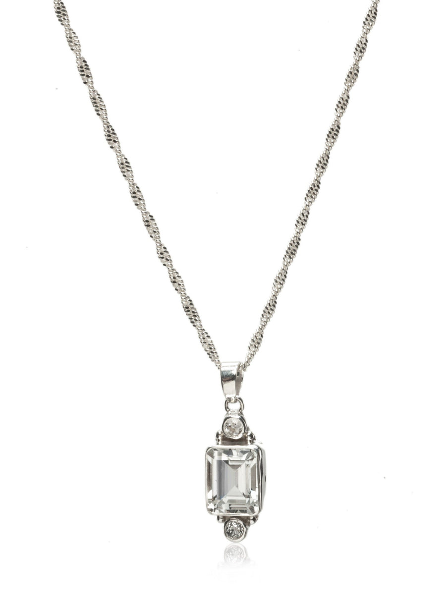 Sterling Silver Novia Necklace (8005SS-WT/WT-1820)