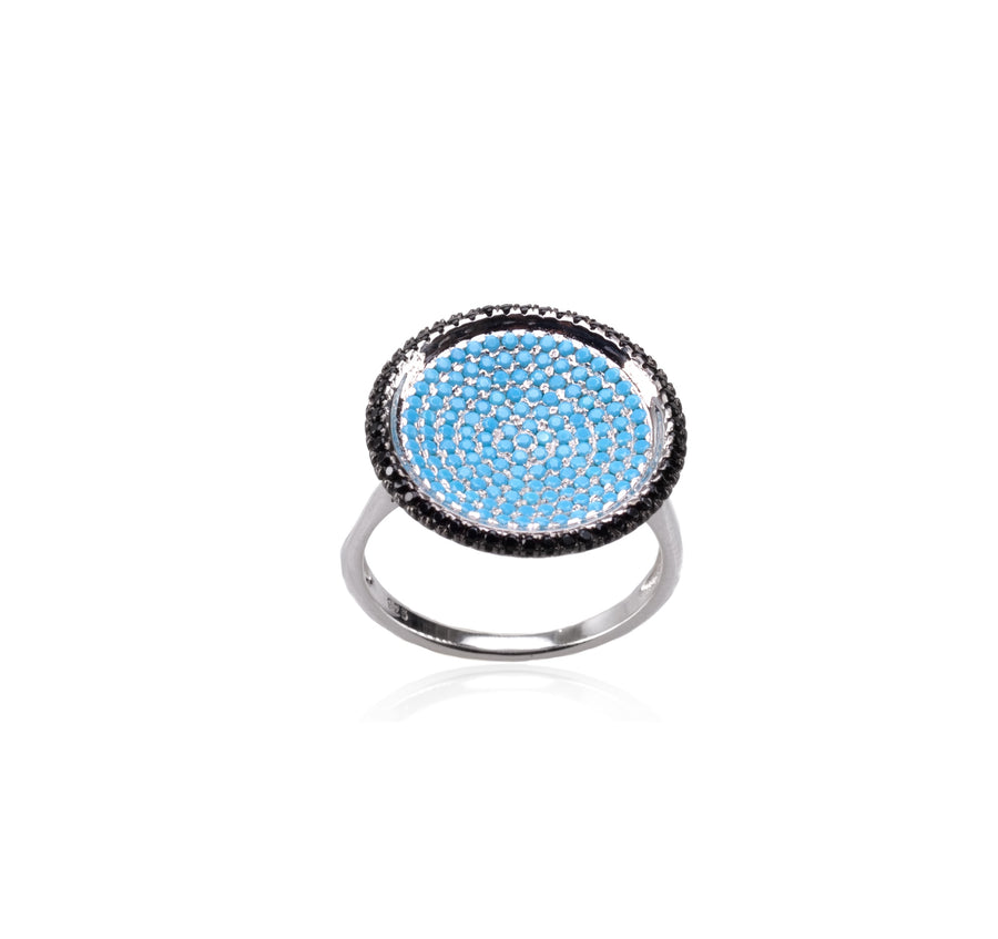 Sterling Silver Blue Ice Ring (90101SM)
