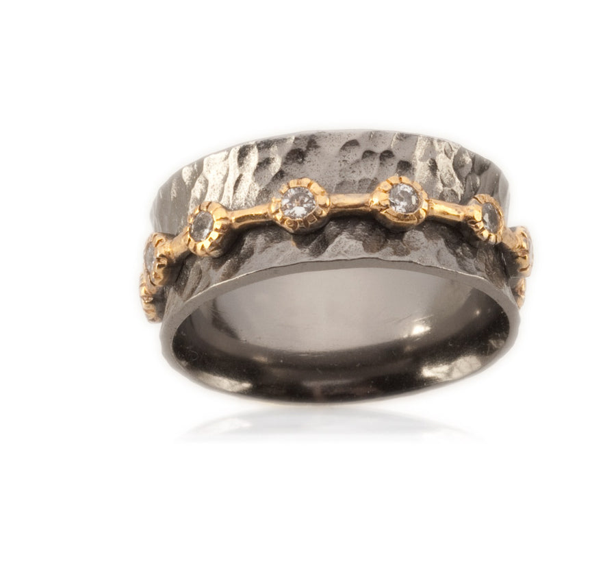 Oxidized Sterling Silver Ring (91100C)