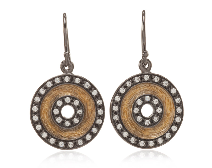 18k Gold Vermeil Black Rhodium Earrings (91302C)