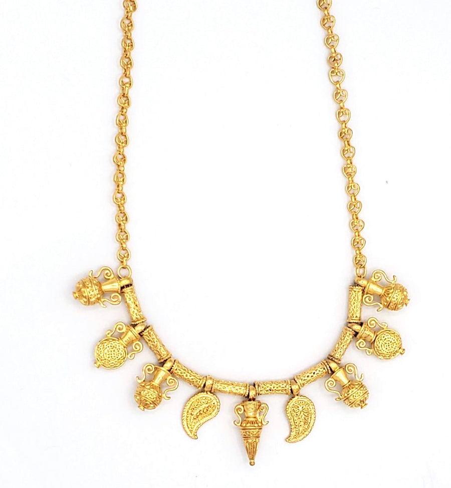 18k Gold Plated Multi Necklace (BT063)