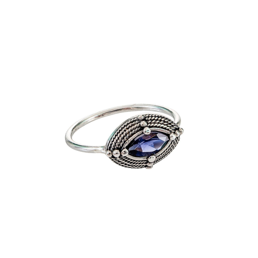 Sterling Silver Iolite Ring (ES153)