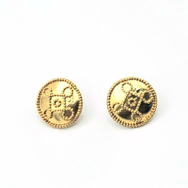 18k Gold Plated Post Earrings (MM003)
