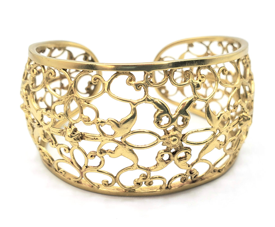 Bronze Statement Cuff Bracelet (SP030)