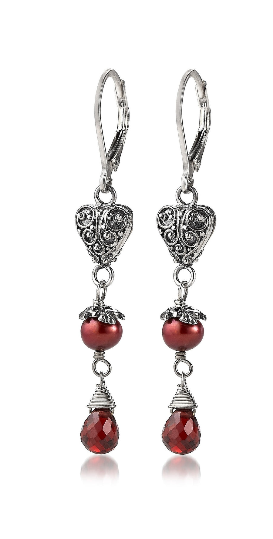 Sterling Silver Romantic Earrings (3354G)