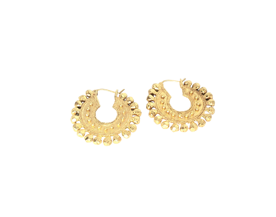 18k Gold Plated Post Earrings (ETR089)