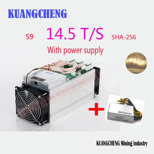 used 98% new AntMiner S9I 14.5T With APW3 PSU SHA256 Bitcoin Btc BCH Miner Better Than Antminer S9 S9i 13T 13.5T 14T T9