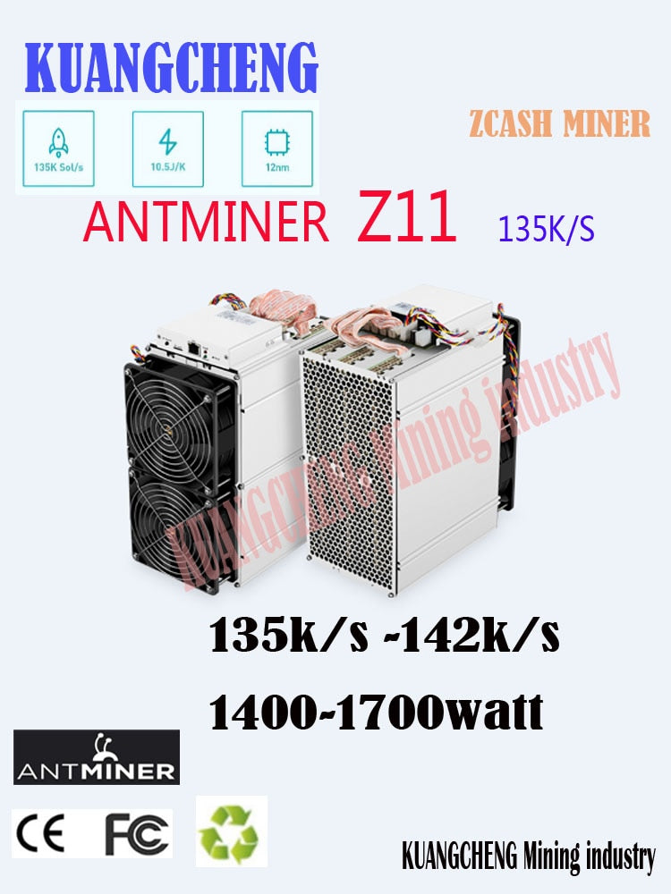 In Stock Antminer Z11 135k Sol/s 1418W With BITMAIN 1800W PSU Equihash Miner Better Than Antminer Z9 S9 S11 S15 Innosilicon A9 - Mining Bonanza