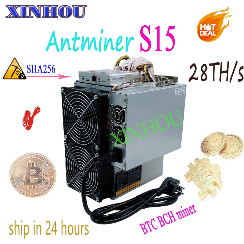 BITMAIN Newest 7nm Asic AntMiner S15 28T SHA256 BTC BCH Miner With PSU Bitcoin Miner Better Than S9 T9 V9 WhatsMiner M3 M10 - Mining Bonanza