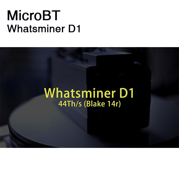 kuangcheng MicroBT Whatsminer D1 with PSU (Shipout on 24 hours  ) Hashrate 44.0 th/s Blake256R14 DCR Miner Decred mining machine - Mining Bonanza