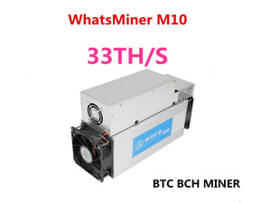 Asic Bitcoin BCH BTC Miner WhatsMiner M10 33TH/S 65W/T Better Than Antminer S9 S9i S9j T9+ M3,Low Power Consumption - Mining Bonanza