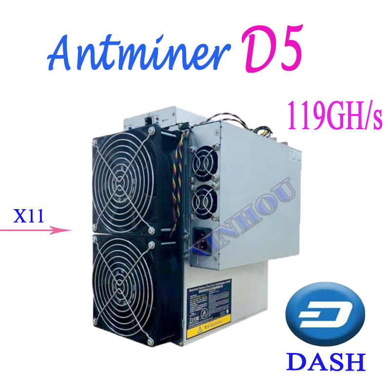ASIC Miner Bitmain Antminer D5 119G Dash X11 With Power Supply Better Than D3   T9 S9 DR3 WhatsMiner M3X D1 Baikal BK-G28 - Mining Bonanza