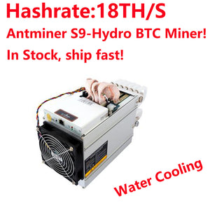 In Stock! Bitmain AntMiner S9 Hydro 18TH/S With Power Supply APW5 2018 Newest Water Cooling BTC Miner Low Noise Dust-proof! - Mining Bonanza