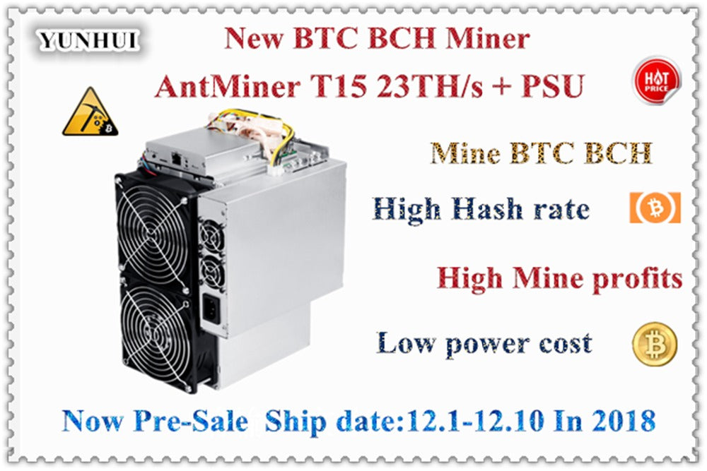 Newest BITMAIN AntMiner T15 23T 7nm BCH BTC SHA-256 Miner Better Than T9 S9 S9j Innosilicon T2T WhatsMiner M10 M3 Avalon 921 - Mining Bonanza
