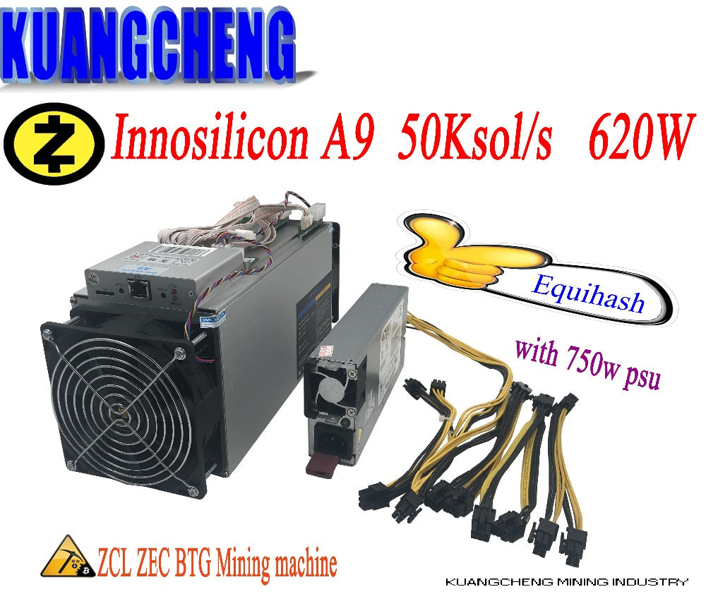 In stock old 80% 90%  Best Zcash Miner! Innosilicon A9 ASIC Miner 50ksol/S with PSU low noise most profitable Miner - Mining Bonanza