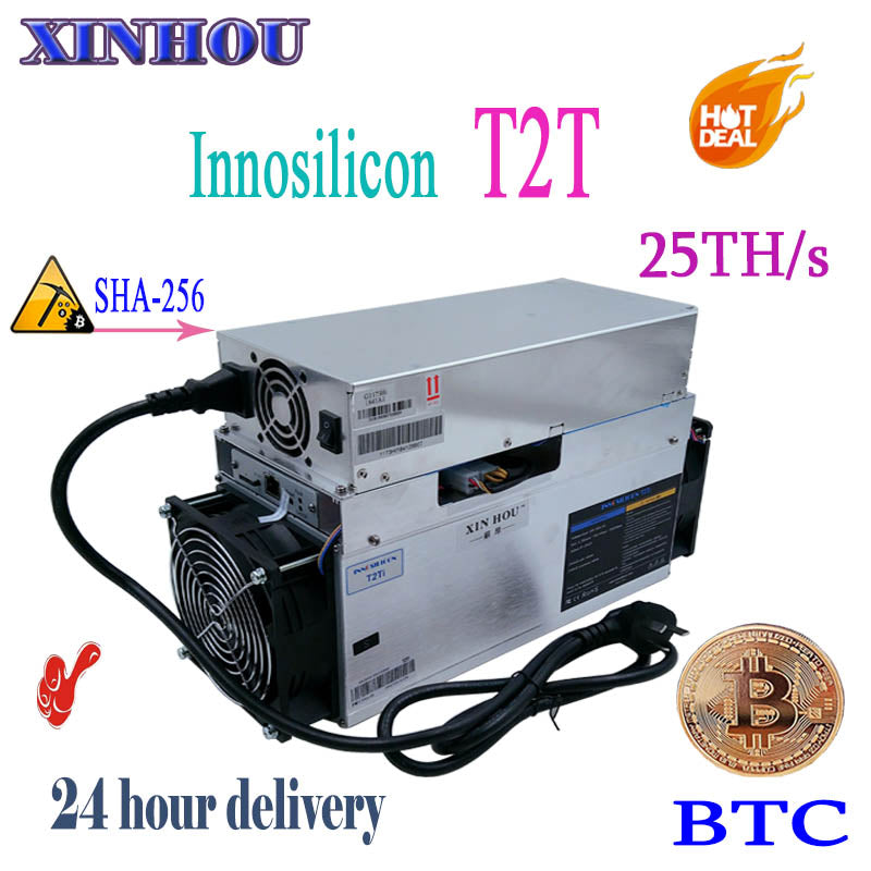 BTC BCH miner Innosilicon T2 Turbo(T2T) 25TH/S SHA256 asic Bitcoin miner better than A9 antminer S9 S9i s9j T9 z9 whatsminer m3X - Mining Bonanza