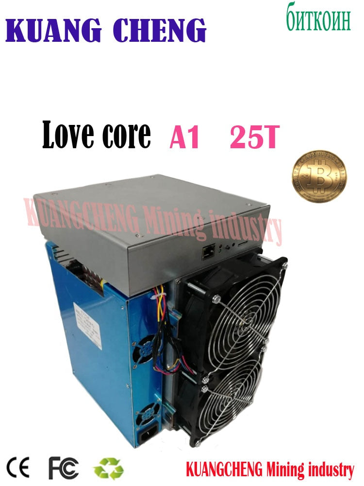 New model ASIC miner BTC BCH miner Love Core A1 Miner 25T 10nm SHA256 ASIC With PSU Economic Than M3 T3 T2T E9i Antminer S9 T17 - Mining Bonanza