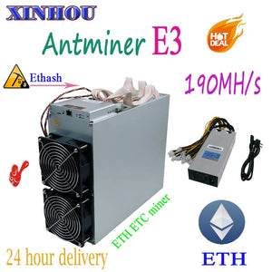 Asic ETH ETC Miner Antminer E3 Ethash 190MH/S With PSU Ethereum ETH Mining Machine Economic Than 6 8 GPU CARDS and z9 A9 DR3 G28 - Mining Bonanza