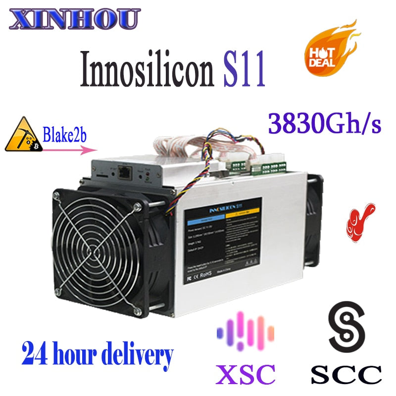 Innosilicon S11 SiaMaster 3.83TH/S 1380W SCC XSC Blake2b Asic Miner Better Than Antminer S9 X3 A3 L3  FFMiner DS19 - Mining Bonanza