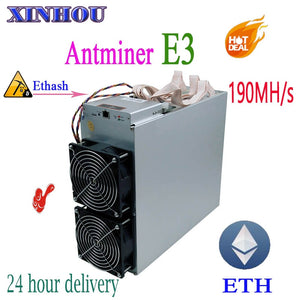 ETH Ethereum miner Antminer E3 190MH/S Asic Ethash no PSU ETH ETC Mining machine Better Than S9 S9i T9 Innosilicon A10 A7 M3 M10 - Mining Bonanza