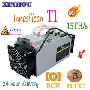 Used ASIC miner Innosilicon Dragonmint T1 15TH/s SHA-256 bitcoin BTC BCH mining Better Than T2T T3 antminer S9i S11 S15 M10 M3x