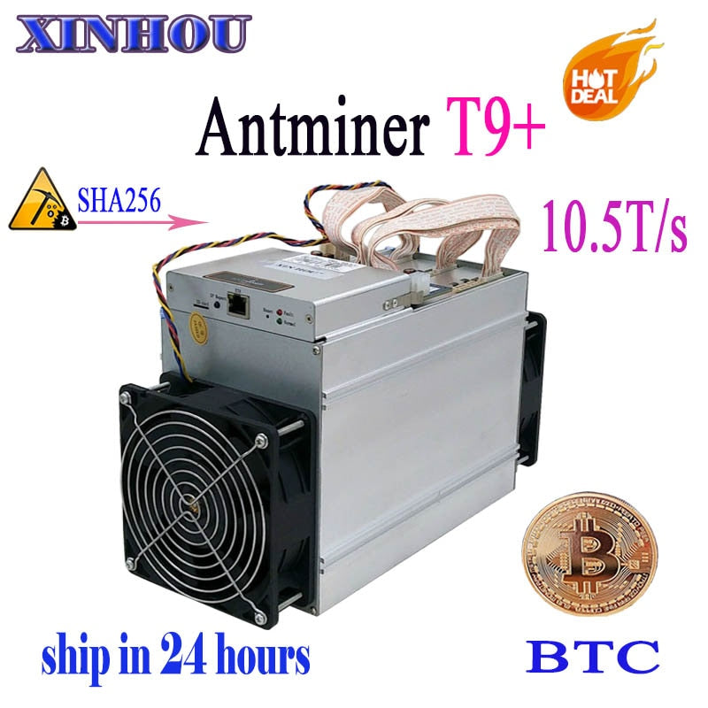 Asic Bitcoin Miner AntMiner T9+ 10.5T SHA256 Without PSU .BTC BCH mining More economical than the S9 S9i Z9mini DR3 M3 M10 - Mining Bonanza