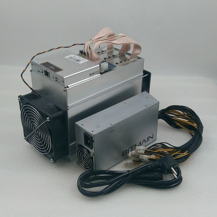 Used AntMiner T9 10.5T Asic Bitcoin BCH BTC Miner With BITMAIN 1600W PSU Economic Than S9 z9 DR5 WhatsMiner M3X Innosilicon T2