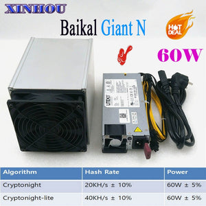 ASIC miner Baikal Giant N CryptoNight and CryptoNight Lite Miner 20-40KH/s 60W with 750w PSU can mine much kinds coins - Mining Bonanza